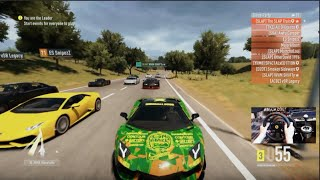 getlinkyoutube.com-Forza Horizon 2 1000+hp Club Highway Fun Open Lobby w/Wheel Cam