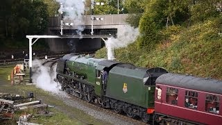 getlinkyoutube.com-East Lancs Railway Steam Gala Day 2 Sun. October 20 2013, 46233, 61994, 1501, 49395 Sapper & Jinty