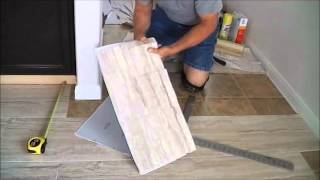 "getlinkyoutube.com-TrafficMaster ceramica 12"" X 24""  vinyl tile floor installation."
