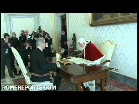President of Latvia Valdis Zatlers visits Pope Benedict XVI in the Vatican