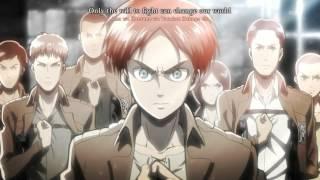 getlinkyoutube.com-[60 FPS ANIME] Shingeki no Kyojin OP 1 (+Eng Subs/Karaoke)