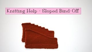 getlinkyoutube.com-Knitting Help - Sloped Bind Off