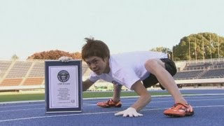 getlinkyoutube.com-Fastest man on all fours - Guinness World Record