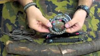 getlinkyoutube.com-braccialetto paracord sopravvivenza +fire starter+fishing kit