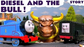 Thomas and Friends Toy Trains Episode Diesel and the Scary Bull - Train Toys For Kids ToyTrains4u