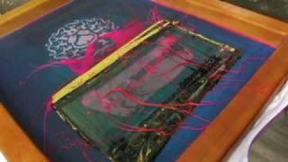 getlinkyoutube.com-Splatter Printing; A FreeScreen Live Screen Print Technique