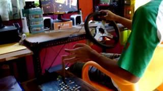 getlinkyoutube.com-[DIY] Steering Wheel + Pedal gas & rem + Shifter -