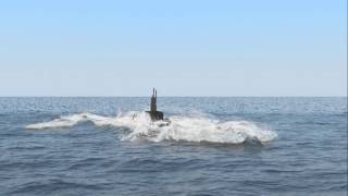 getlinkyoutube.com-Submarine surfacing - Phoenix FD for 3ds Max