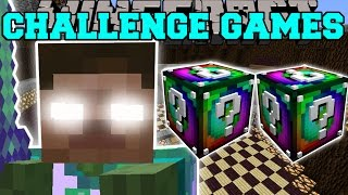 getlinkyoutube.com-Minecraft: DELTA HEROBRINE CHALLENGE GAMES - Lucky Block Mod - Modded Mini-Game