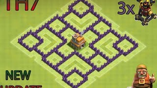 CLASH OF CLANS- TH7 FARMING BASE BEST TOWN HALL 7 DEFENSE WITH 3x AIR DEFENSES