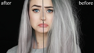 getlinkyoutube.com-My Secret to Silky Straight Hair from Very Damaged Hair | Evelina Forsell
