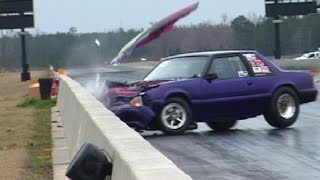 getlinkyoutube.com-When MUSTANGS ATTACK! INSANE Drag Racing Crashes