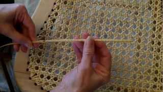 getlinkyoutube.com-Weaving A Cane Seat Using the 7 Step Method
