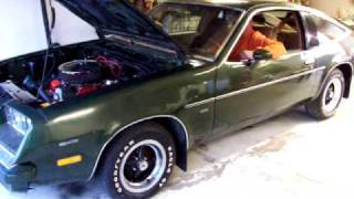 1980 Chevy Monza 327 Small Block. Look at the size of that guys head!