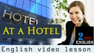 getlinkyoutube.com-At a hotel - English video lesson