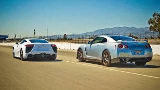 getlinkyoutube.com-Drag Race: 2012 Lexus LFA vs 2010 Nissan GT-R