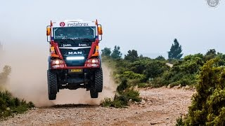 getlinkyoutube.com-InstaForex Loprais Team 69 - the real MAN Dakar truck testing!