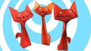 getlinkyoutube.com-Origami Cat Instructions