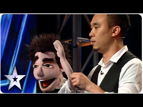Ventriloquist Shawn Chua performs magic for the judges | Asia's Got Talent 2015 Ep 2