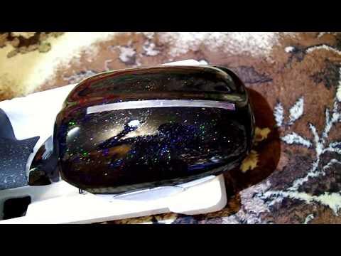 Зеркала газ 3110-105 черные+блестки+лак.