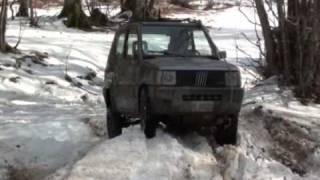 getlinkyoutube.com-Panda 4x4 e vitara tra neve fango e ribaltamento, prima parte