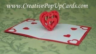 getlinkyoutube.com-Valentine's Day Pop Up Card Tutorial: 3D Heart