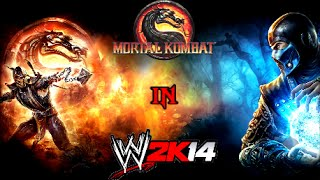 getlinkyoutube.com-Mortal Kombat Tournament - WWE 2K14