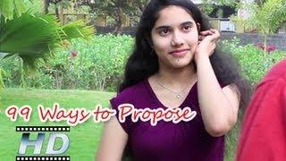 getlinkyoutube.com-99 Ways to Propose   A Short film with 40 actors   By Sravanth Gajula