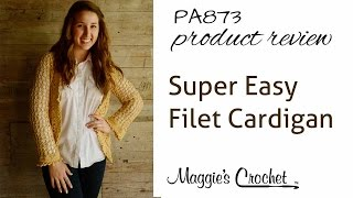 getlinkyoutube.com-Crochet Super Easy Filet Cardigan PA873 Product Review