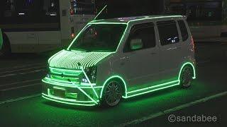 getlinkyoutube.com-ディズニーランド・エレクトリカルパレードみたいな渋谷LED電飾車。The car that illuminations of the LED are dazzling.