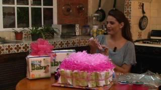 getlinkyoutube.com-Pastel de pañales para baby shower