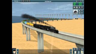 Trainz 2010 Bouncing Bigboy (another crash)