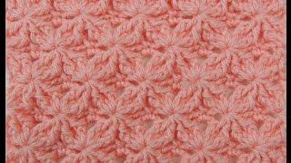 getlinkyoutube.com-Crochet: Punto Lazos en Relieve # 2