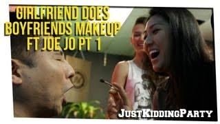 getlinkyoutube.com-Girlfriend Does Boyfriends Makeup ft Joe Jo pt 1