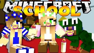 Minecraft School - TURNING INTO BABIES ! w/ Little Kelly