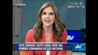 Quito: entrevista en la TV Ecuavisa