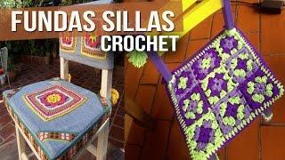 getlinkyoutube.com-Fundas Para Sillas - Tejidas a Crochet ( Diseños )