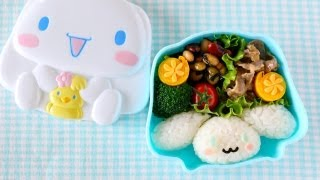 getlinkyoutube.com-Cinnamoroll Bento Lunch Box (Kyaraben) シナモン弁当 (キャラ弁) - OCHIKERON - CREATE EAT HAPPY