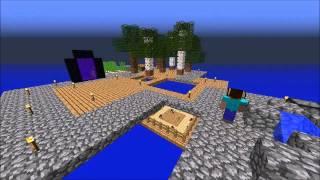 getlinkyoutube.com-Minecraft Skyblock 2.1 Speedrun Timelapse! (including bloopers!)
