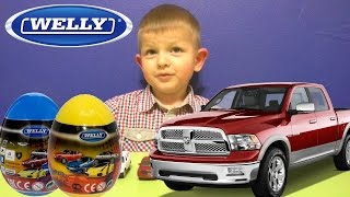 Велли машинки яйца с сюрпризом.Surprise Eggs Cars Welly Kinder Toys