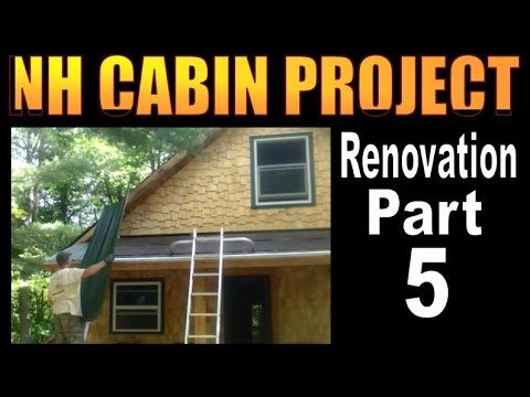NH CABIN PROJECT. Off Grid Homestead Renovation Part 5.