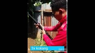 getlinkyoutube.com-Test shooting AirRifle Canon 737 target is mobilephone Tom i20