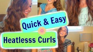 getlinkyoutube.com-3 Quick & Easy Heatless Curls