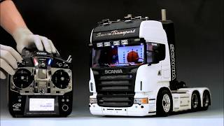 getlinkyoutube.com-1/14 TAMIYA SCANIA     Futaba T10J + MFC-01