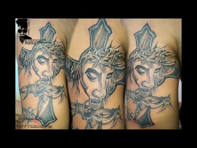 Download thumbnail for #Jesus thorns tattoo|#jesus tatto|#Jesus ...