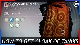 getlinkyoutube.com-Destiny How to Get Cloak of Taniks Hunter Cloak
