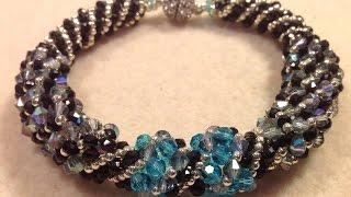 getlinkyoutube.com-Sparkling Spiral Bracelet Tutorial