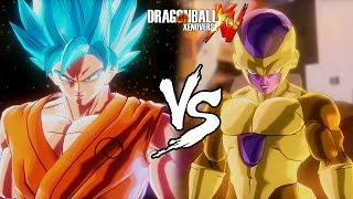 getlinkyoutube.com-Dragon Ball Xenoverse (PS4) : SSGSS Goku [DLC] Vs Golden Frieza [DLC] Gameplay【60FPS 1080P】