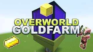getlinkyoutube.com-Minecraft - Overworld Gold Farm - Tutorial 1.11