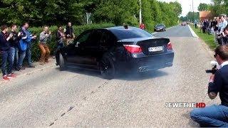 getlinkyoutube.com-BMW M5 E60 NEARLY HITS THE CROWD! & LOUD Sounds!